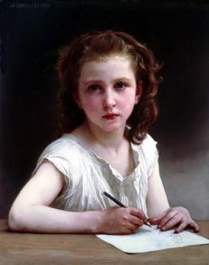 Une vocation 2   William Adolphe Bouguereau (1825 – 1905, French)
