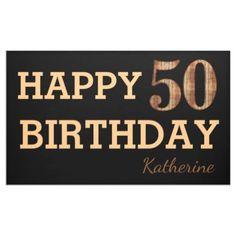 #trendy - #Modern Cool 50th Birthday Party Black Banner