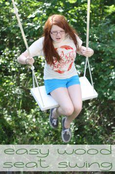Make this: Simple Wood Seat Swing