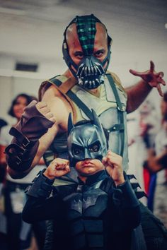 Bane and The Batman (The Dark Knight Rises) - Cosplay by father and son at Lanka Comic Con 2017.