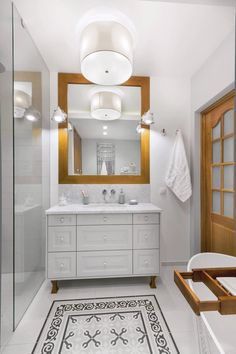 Baños con estilo | Azulejo hidráulico Llagostera Gris | Vives Azulejos y Gres