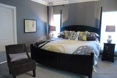 Grey and black together...possibly future master bedroom decor.