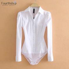 Bodysuit Fashion, Womens Bodysuit, Suit Shirts, Shirt Blouses, Satin Blouses, Long Sleeve Bodysuit, Long Sleeve Shirts, Jw Moda, White Bodies