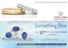 Sapphire Jewelry, Gemstone Jewelry, Garnet Pendant, Womens Wedding Bands, Natural Sapphire, Something Blue, Coupon Codes, Jewelry Collection, Wedding Rings