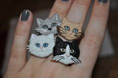 NEW Crazy Cat Lady Ring Pick Your Cat by FortheloveofHarry on Etsy