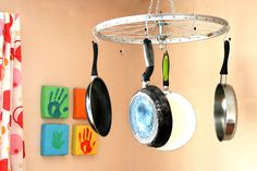 How to Use a Bicycle Tire Frame As a Pot Rack -- via wikiHow.com