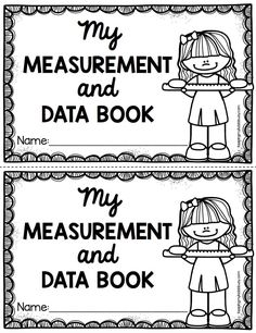 FREE Measurement and Data Math Mini Book - Emergent Reader - practice math vocabulary with this adorable math center for kindergarten