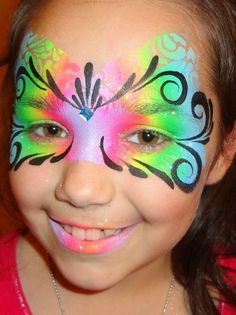 Princesses & Pirates Face Painting - Another mask