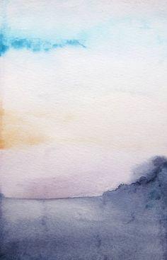 SALE 15 Off  Dawn  Morning Landscape  Original 5x7 by MaiAutumn, $83.30