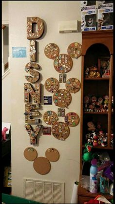 Cork boards to display Disney pins