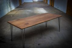 DARK OAK TABLE Large Dark Oak Dining Table by HardmanDasein, €1250.00