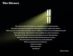 The Silence My Side, Stand By Me, Knowing You, Poetry, Stay With Me, Poems, Poetry Books, Poem, Friendship