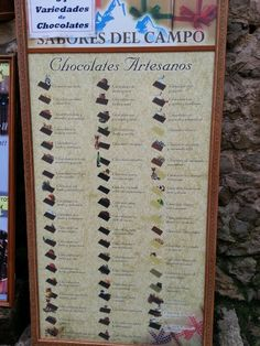 54 variedades de chocolates (Santillana del Mar)