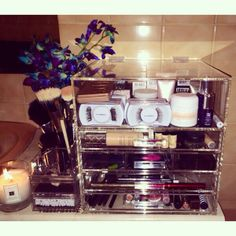 Pretty makeup storage unit the Glamourcube