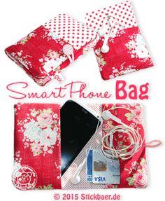 Smartphone (and more) Bag 16x26 oder 18x30 Eine praktische Tasche für Euer Smartphone oder auchandere Dinge könnt Ihr mit dieser Stickdatei sticken.In der Tasche findet nicht nur Euer Mobiltelefon genügend Platz, Ihr könnt darin zusätzlich die Kopfhörer und 4Geldkarten sicher und platzsparend verwahren. Die Tasche ist weich gepolstert, so dass das Telefon immer gut geschützt ist. Die reine Stickzeit beträgt nur ca. 6 Minuten, mit allen Stickschritten habt Ihr Eure Tasche bereits nach 20…