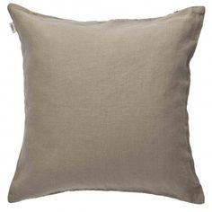 Pellava-tyynynpäällinen 50x50cm taupe Taupe, Throw Pillows, Decor, Bedroom, Beige, Toss Pillows, Decoration, Cushions, Decorative Pillows