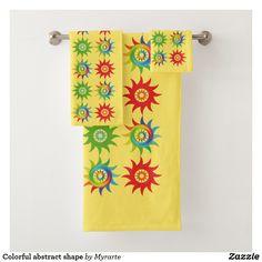Colorful abstract shape. Producto disponible en tienda Zazzle. Product available in Zazzle store. Bath Towel Set. Regalos, Gifts. #bath #towel #set