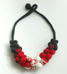 I love the idea of this necklace, but I am not convinced it would look great on. Maybe with a metal chain?
