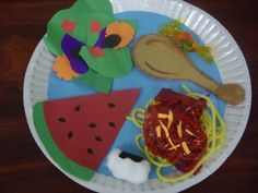 Healthy plate craft. Perfect for teaching food groups :)