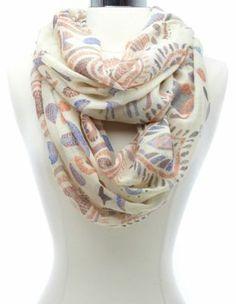 abstract safari print infinity scarf