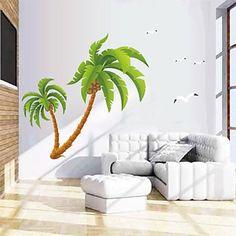 muurstickers muur stickers, natuurlijke grote kokospalm pvc muurstickers – EUR € 14.53