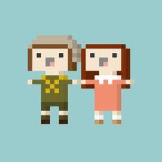 Pixel People(s) by Alexandra Hawkhead, via Behance