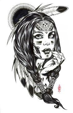 Resultado de imagem para tatuajes de mujeres indias