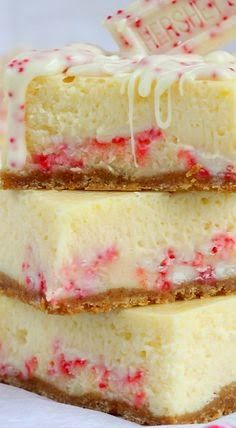 Peppermint Cheesecake Bars.... these are to die for
