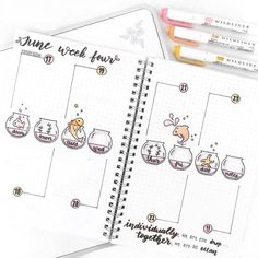 Learn To Draw Animals Bullet journal weekly layout, hand lettering, fishbowl drawing. Bullet Journal 2018, Bullet Journal Weekly Layout, Bullet Journal Notebook, Bullet Journal Aesthetic, Bullet Journal Themes, Bullet Journal Inspo, Bullet Journal Spread, Bullet Journals, Art Journals
