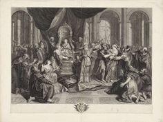 Jean Audran   Athalia en Joab, Jean Audran, Antoine Coypel, 1677 - 1756  