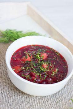 polish beetroot soup - barszcz czerwony - zupa buraczkowa