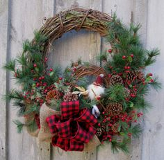 victorian christmas wreaths ideas | Christmas Wreath, Holiday Décor, Woodland Christmas, Rustic Pine ...