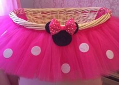 Items similar to Large Hot Pink Minnie Mouse Theme Tutu Basket, Birthday Tutu Gift Basket, Baby Shower Basket, Tutu Easter Basket, Newborn Photo Prop Basket on Etsy Minnie Mouse Gifts, Minnie Baby, Minnie Mouse Theme, Minnie Mouse Baby Shower, Pink Minnie, Baby Mouse, Mini Mouse, 2 Birthday, Minnie Birthday