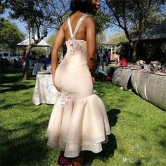 South African Ankle Length Mermaid Bridesmaid Dresses Appliques Flowers Spaghetti Backless Criss Cross Straps Country Maid Of Honor Gowns African Bridesmaid Dresses, Silver Bridesmaid Dresses, African Wedding Attire, Black Bridesmaids, African Print Dresses, African Dress, Braids Maid Dresses, Latest African Fashion Dresses, Applique Dress