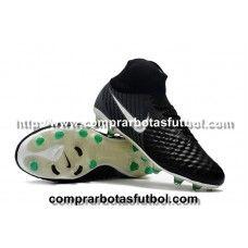 e00adebecabac Colecciones De Botas De Futbol Nike Niños Magista Obra II FG Negro Blanco  Verde