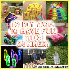 10 DIY ways to have fun this summer! It isn't that hard to DIY your summer fun. Check out 10 of our favorites. Summer Activities For Toddlers, Camping Crafts For Kids, Summer Crafts For Kids, Summer Diy, Summer 2016, Christmas Gifts For Teenagers, Cool Gifts For Teens, Diy For Teens, Diy Projects For Teens