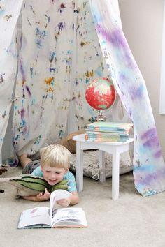 DIY Hoop Hideout // We Made It by Jennifer Garner Creative Kits for Kids // Tie Dye Ideas