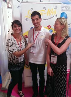 Lucie, Silvia et Alexis sur le Village Startups de #ConnecSud