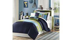 3 Piece Twin/Twin XL Navy Teal Blue Light Green Striped D... https://www.amazon.com/dp/B01N6VC27Y/ref=cm_sw_r_pi_dp_x_Ywilzb7F75WVY