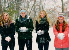 winter friends photoshoot