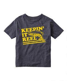 Heather Blue 'Keepin' It Reel' Tee - Toddler & Kids