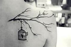 Bird Cage Tattoo Tree Branch Inspiring Picture On Favimcom We
