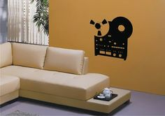 RETRO STEREO STICKER by StickONmania. Wall Decal, Vinyl Decal, Wall Art Decoration, Vinyl Sticker, Room Decor, Wall Stickers
