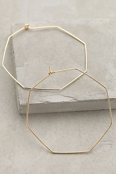 Hexagon Hoops #anthropologie