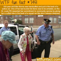 102 year old woman gets handcuffed and put in back of police car- Facts