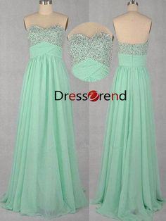 evening dress prom Cheap prom Dress mint / Long by DressTrend, $139.99