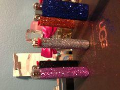 Glitter lighters(: