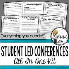 Parent conferences can be so redundant.  Starting student led conferences with your class will be a very rewarding way to rework your regular parent conferences.  I find that when students take an active role in their education by setting goals, tracking their progress, and celebrating their successes they work harder to meet their goals.
