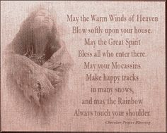 Cherokee Indian Prayer