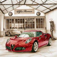 Alfa Romeo 4C - Les Classiques - orpheograff.com #AlfaRomeoclassiccars